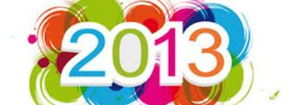 2013 : Au programme cette année