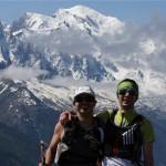 Pose devant le Mont Blanc