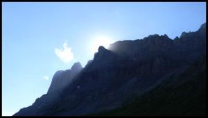 Coucher de soleil sur les Fiz