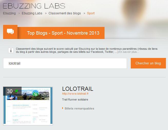 classement ebuzzing labs blog sport novembre 2013