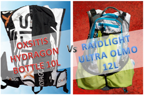OXSITIS HYDRAGON BOTTLE 10L vs RAIDLIGHT ULTRA OLMO 12L