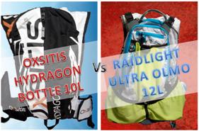 OXSITIS HYDRAGON BOTTLE 10L vs RAIDLIGHT ULTRA OLMO 12L